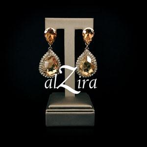 Gouden Champagne Oorbellen – Zhira