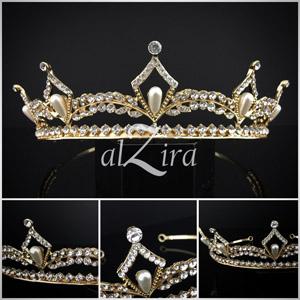 Tiara Parels Klassiek Goud – Azima